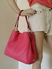 NWT Coach Sexy Pink Pebbled Leather Shoulder Hobo Bag F35723