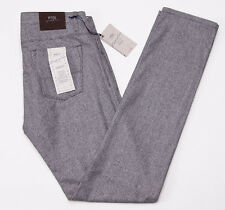 NWT $550 PT01 Slim Gray Houndstooth Five Pocket Flannel Wool Pants 32 PT05