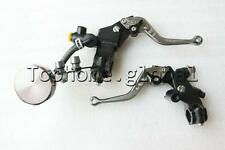 """7/8"""" Front Brake Master Cylinder & Cable Clutch Perch W/ Levers Fluid Reservoir"""