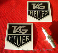 "Pair of  HEUER   3""   Old Style  sticker decal"