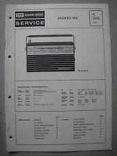 ITT/Schaub Lorenz Jockey 102 Service Manual, K009