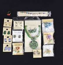 NEW Lot of Floral Fashion Jewelry Necklaces Austrian Crystal Earrings 15-Pieces