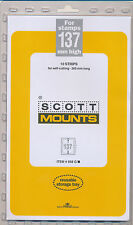 Prinz Scott Stamp Mount 137/265 CLEAR Background Pack of 10