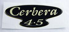 TVR Cerbera 4.5 semicirculares de Gel Negro y Dorado Efecto Autoadhesivo Placa 116x53mm