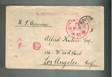 1920 Nagoya Japan German POW Cover WW 1 prisoner of war to Los Angeles USA