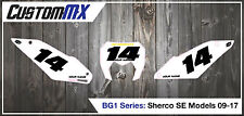 09-17 SHERCO SE 250 300 450 SE-R SE-F ENDURO NUMBER BACKGROUNDS DECALS