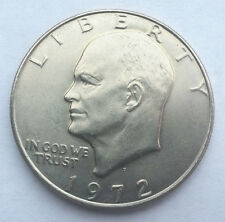 "1972 D Eisenhower Dollar ""About Uncirculated"" US Mint Coin AU Ike"