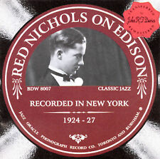 RED NICHOLS on EDISON - Recorded in New York 1924-1927