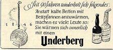 UNDERBERG Seit 90 Jahren... Historische Reklame von 1938