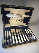Walker & Hall Silver Plate Fish Canteen of Cutlery   ref1948