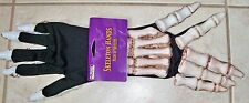 ADULT SKELETON BONEY HANDS GLOVES COSTUME PM342145