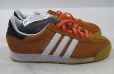 Mens-Adidas-Samoa-Orange-Run-White-Black-D74605    Size.  8.5