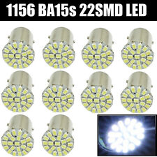10x White 1156 BA15S 22 SMD LED Light bulbs Turn Signal Backup P21W 1073 7506
