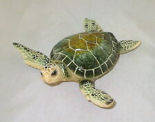 """Sea Turtle Figurine Green Water Animals 5.75"""" Poly Resin New"""