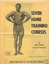 Ben Weider's Seven Home Training Courses Muscle Builder Booklet