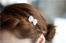 Hot Fashion Korean Style Women Pearls Bow Hairband Headband Hair Accessories