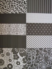 10 x Recollections Monochrome 4 Papers For Cardmaking & Scrapbooking