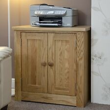 Kingston solid oak office computer furniture printer storage cupboard