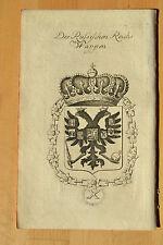 Wappen Russland, russisches Reich, Kupferstich von Gatterer 1764, Nürnberg,