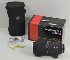 Sigma Ex 70-200mm F/2.8 APO DG HSM with Hood and Case
