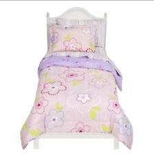 TWIN / SINGLE - Circo - Pink Flower Dots 5-Pc REVERSIBLE BEDDING SET