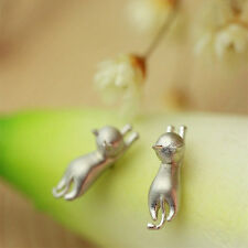 Cute Cat Stud Earring Fine Jewerly For Women Girl Earrings Jewelry