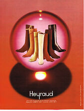 PUBLICITE ADVERTISING 044   1971   HEYRAUD     collection bottes