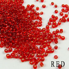 2000Pcs Czech Glass Seed Spacer Round Clear Beads DIY Jewelry Making Picks 2mm
