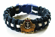 ROYAL NAVY QUEENS CROWN PARACORD WRISTBAND WITH BADGE