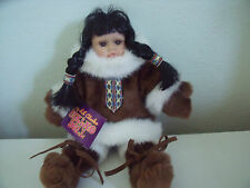 BEAUTIFUL MY LIL' ALASKA ESKIMO DOLL WITH TAG APPROX 9 INCHES