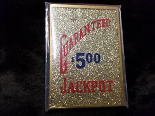 REPLACMENT BUCKLEY MILLS GUARANTEED $5.00 JACKPOT GLASS for ANTIQUE SLOT MACHINE