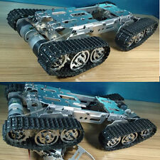 Metal ATV Track Robot Tank Chassis suspension obstacle crossing Crawler For DIY