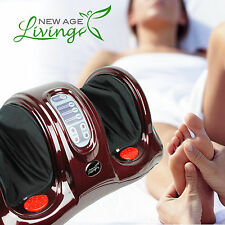 Shiatsu Kneading Rolling Foot Massager Leg Calf Ankle w/Remote Red Burgundy T