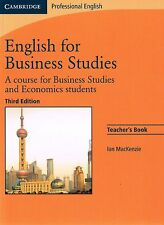 Cambridge Professional ENGLISH FOR BUSINESS STUDIES Teacher's Book 3rd Ed @NEW@