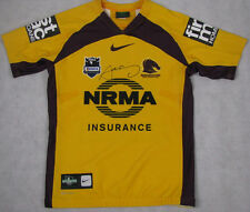 SAM THAIDAY Hand Signed 'RARE' Players GAME WORN Brisbane Broncos Jersey #12