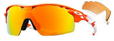 *NEW Oakley Sunglasses RADARLOCK XL Blood Orange / Fire Irid Polarized OO9170-02