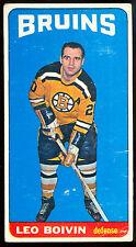 1964 65 TOPPS TALL BOYS #50 LEO BOIVIN VG-EX BOSTON BRUINS HOCKEY FREE SHIP USA