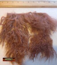 M00727 MOREZMORE Tibetan Lamb Remnants LEATHER BROWN Doll Baby Hair Wig NSS