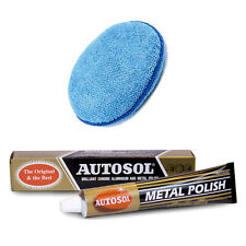 Autosol Solvol Chrome Metal Alu Cleaner & Polish + Microfibre Polishing Pad