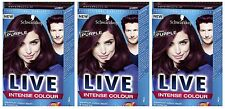 Schwarzkopf LIVE Intense 046 Cyber Purple Pro Permanent Hair Colour Dye x 3