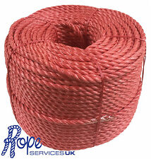 10mm x 75 mts Red Poly Rope Coils,Polyrope,Polypropylene,Agriculture,Camping