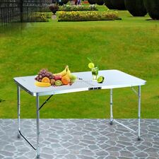 """48""""x23"""" Portable Folding Aluminum Table Outdoor Picnic Party Dining Camping Desk"""