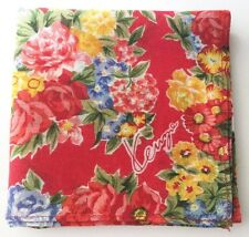 HANDKERCHIEF ART VINTAGE RED ROSE FLORAL PATTERN WOMEN'S POCKET SQUARE SCARF~18""