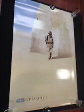 VINTAGE 1999 STAR WARS EPISODE I LUCAS FILM The Phantom Menace MOVIE POSTER