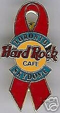 Hard Rock Cafe TORONTO SKYDOME 1998 Aids Awareness PIN - Red Ribbon