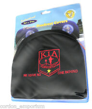 KIA KILLED ACTION LEAVE NO ONE BEHIND EMBROIDERED HEADREST COVERS FOR CAR 2 SET