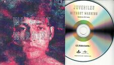 JUVENILES Without Warning 2017 French 12-trk promo test CD + press release