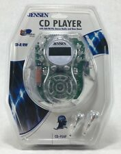 Jensen CD-95AF Portable Am/FM Player Clear Body Anti-skip Bass Boost Discman NEW