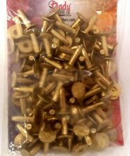 "#12 Med 1/2"" 75 Pack of BRASS RIVETS & BURRS 11280-21 Tandy Leather Rivet Burr"