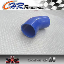 "Silicone 45 degree 3"" inch Elbow 76mm Turbo Intercooler hose Blue"